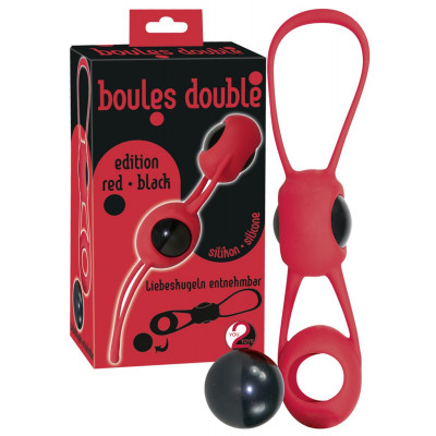 """PALLINE DELL'AMORE IN SILICONE \""""BOULES DOUBLE\"""" ROSSO"""